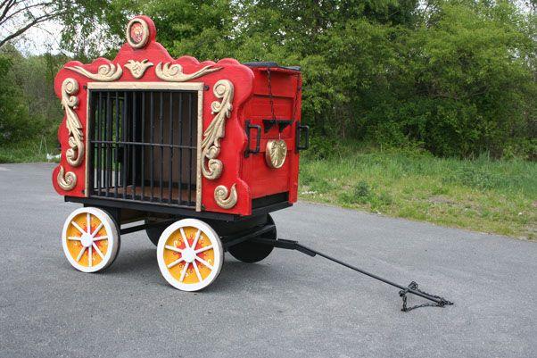 lightweight foam/pvc circus wagon prop