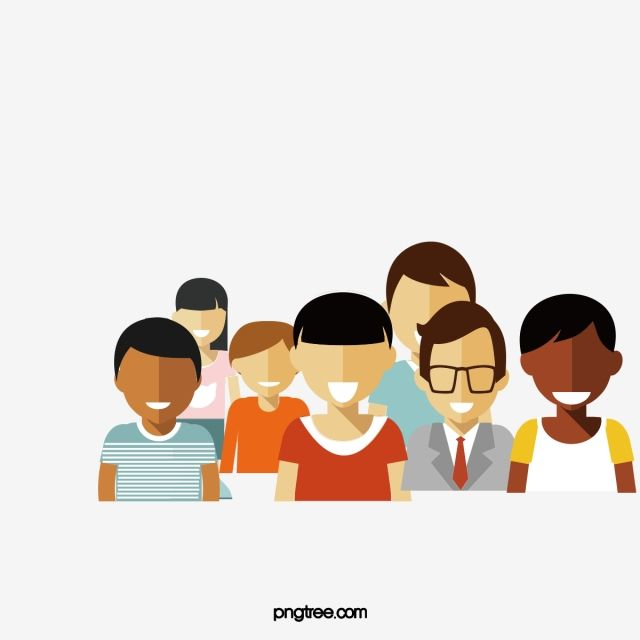 Vector Group Of People People Clipart Vector Character Png Transparent Clipart Image And Psd File For Free Download People Png Vector Children Illustration