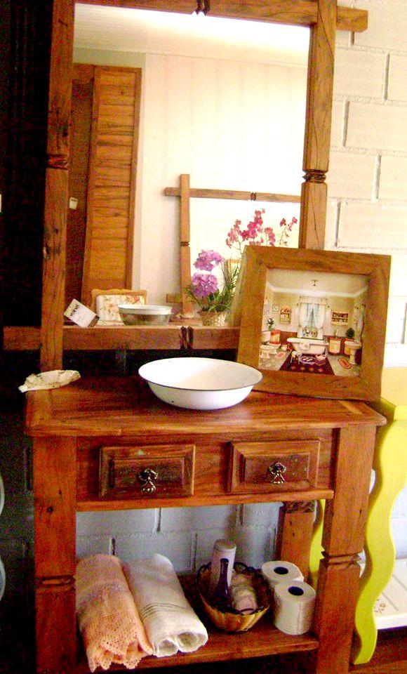 móveis rústicos embu das artes  Pesquisa Google  Banheiro  Pinterest  Pes -> Gabinete De Banheiro Na Telha Norte