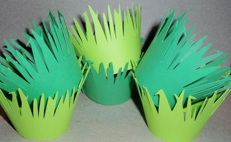 48 - Cupcake Wrappers - Cardstock - Grass (Green, Lime) (Wedding, Birthday Party, Jungle Theme, Safari, Shower, Forest). $24.00, via Etsy.