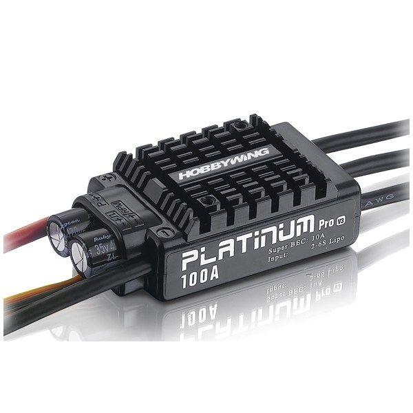 Hobbywing Platinum 100A V3 Esc Electronic Speed Controller https://www.fpvbunker.com/product/hobbywing-platinum-100a-v3-esc-electronic-speed-controller/    #planes