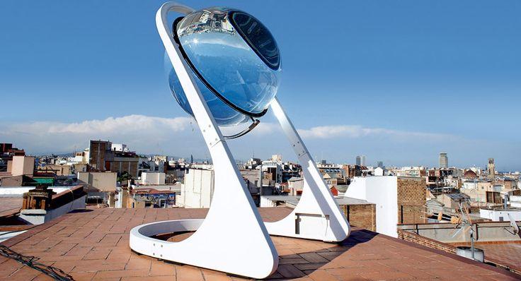 Dispositivo que capta Energia de Radiacion Solar