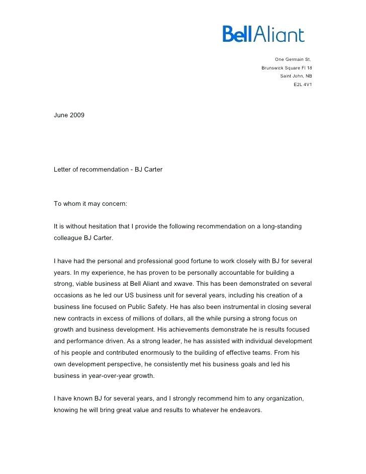 how to write a letter of recommendation for a coworker