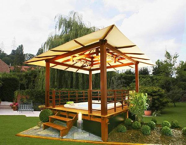 Modern Garden Gazebo Design Ideas | Modern Gazebo, Oriental And Minimalist