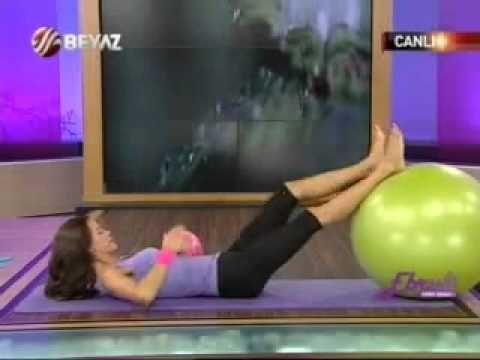 Ebru Şallı göbek eritme hareketleri video indir dvd-pilates egzersizleri karın inceltme