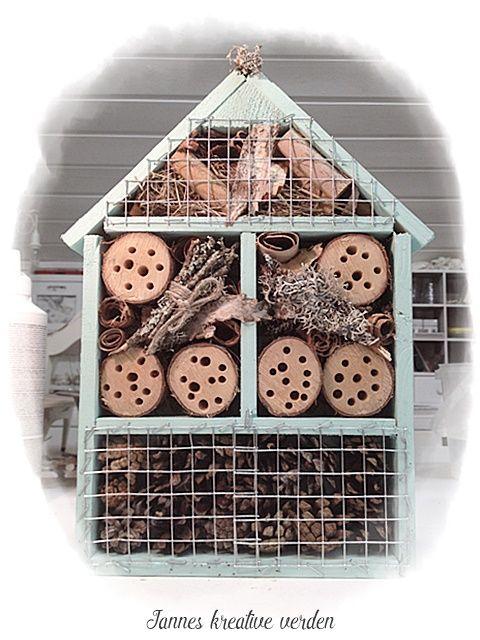 Jannes kreative verden: Insektshotell og trekasse til hagebruk:))