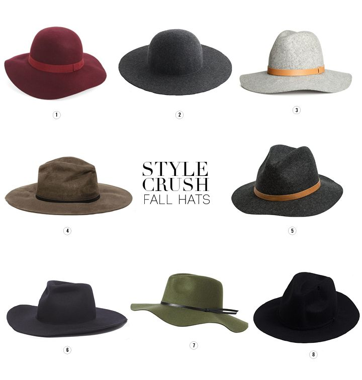 From floppy wool hats to felt fedoras, we've put together our favorite hats of the season in this week's Style Crush.