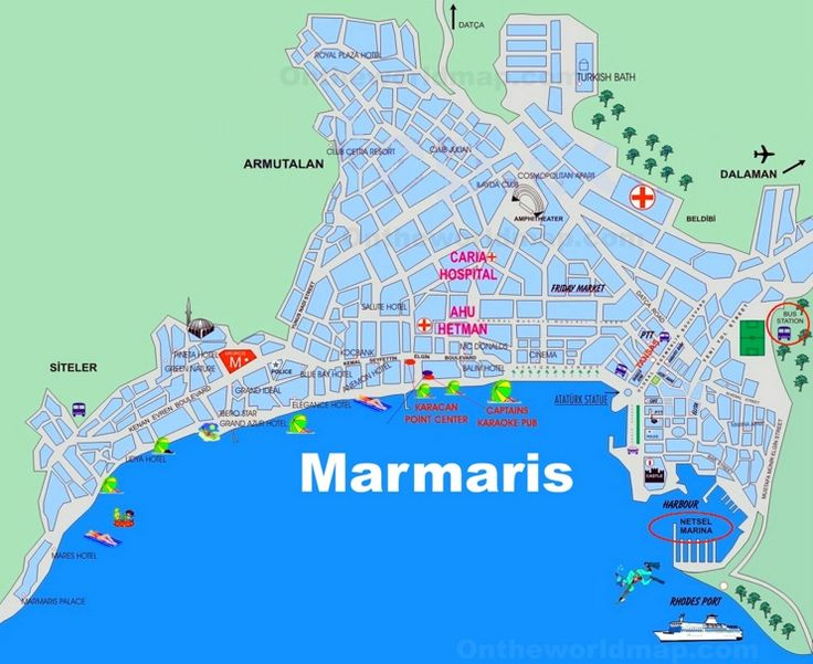 Marmaris tourist map