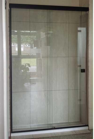 SH/FGS/L Black - Sliding Shower Screen
