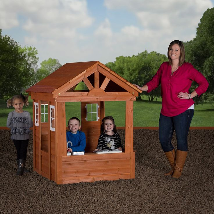Columbus All Cedar Playhouse - This little house is at home on the prairie, on the patio, in the living room – anywhere you have a patch of land for the Columbus All Cedar Pla...