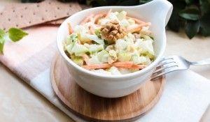 Joghurtos-mustáros savanyú káposzta saláta