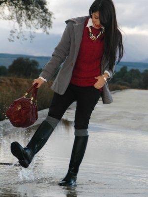 aliciaentrelazosyvestidos Outfit  lluvia casual boots  ...