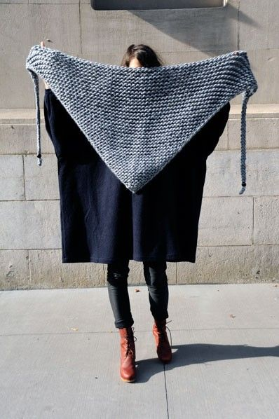 Garter stitch shawl - I want to make this!