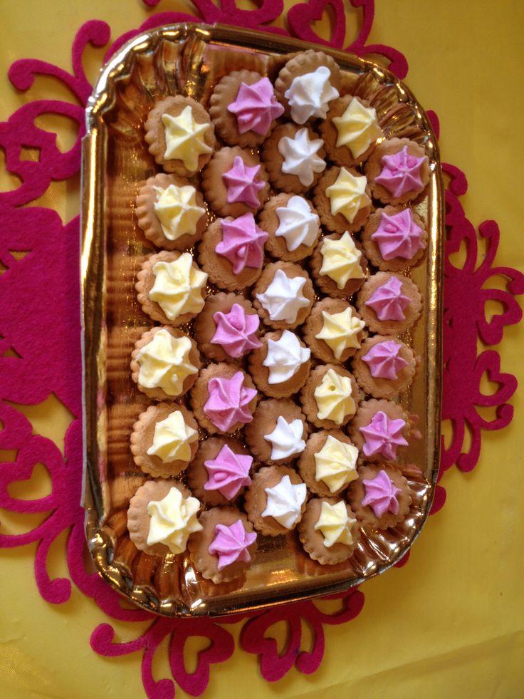 Mini biscottini con meringhe!
