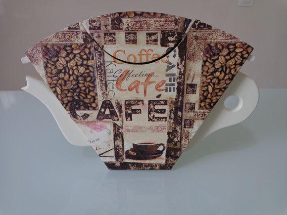 Porta Filtro de Café MDF, Porta Coador