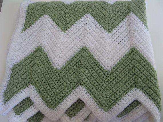 Crochet Afghan Pattern Easy Chevron Crochet Blanket