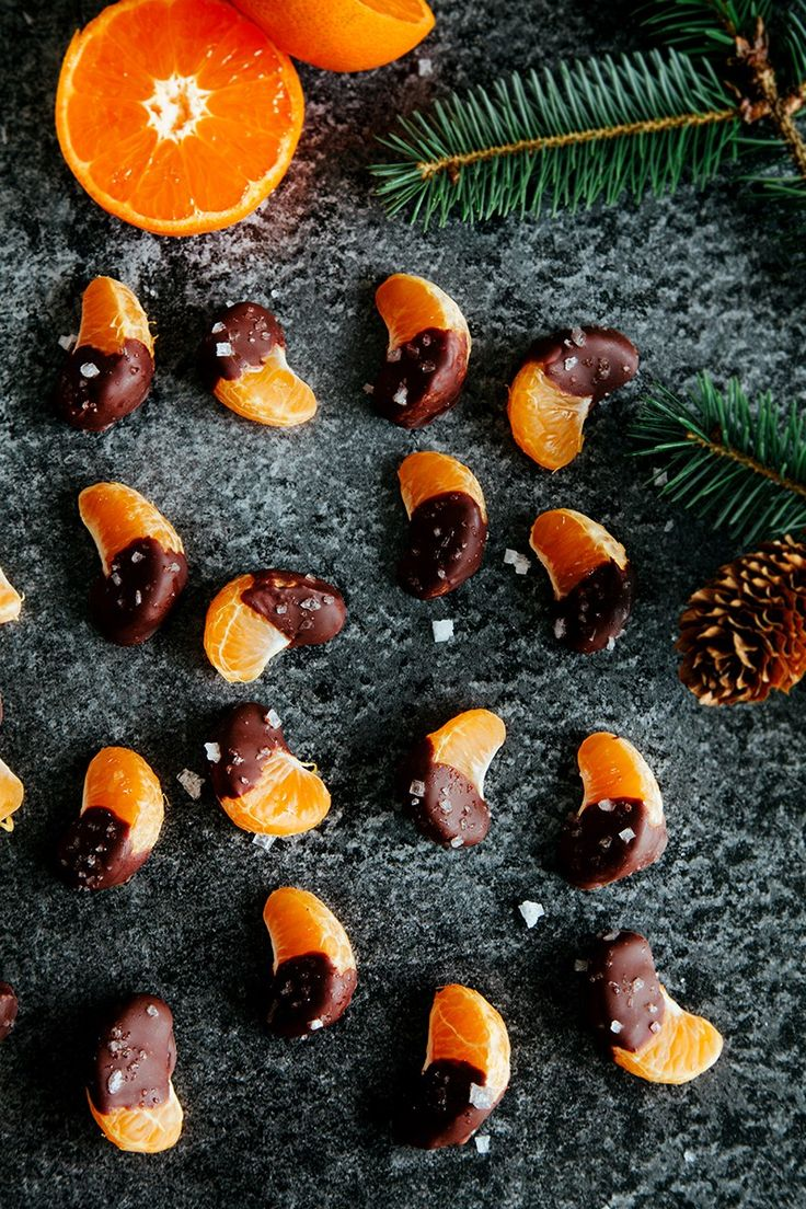 Sea salt & Chocolate Covered Orange Slices