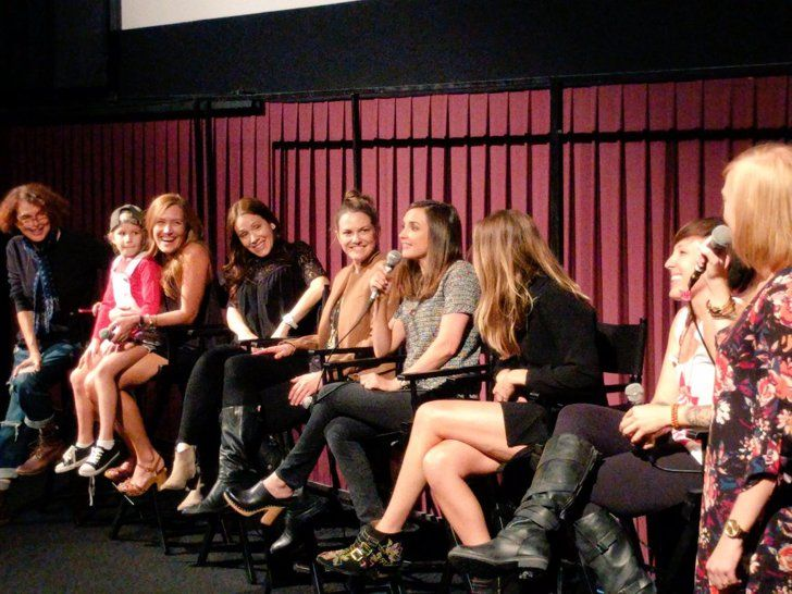 Pin for Later: The Baby-Sitters Club Reunited After 2 Decades to Watch the Movie  The cast answered questions from the stage.