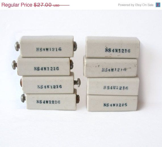 Vintage Steatite Ceramic Insulators NS4W1216 by MargsMostlyVintage