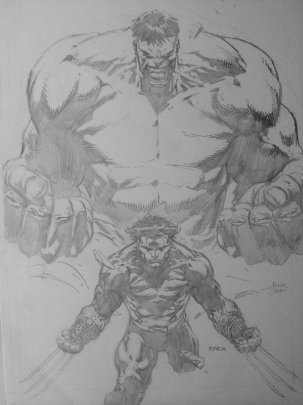 Hulk / Wolverine by David Finch Comic Art
