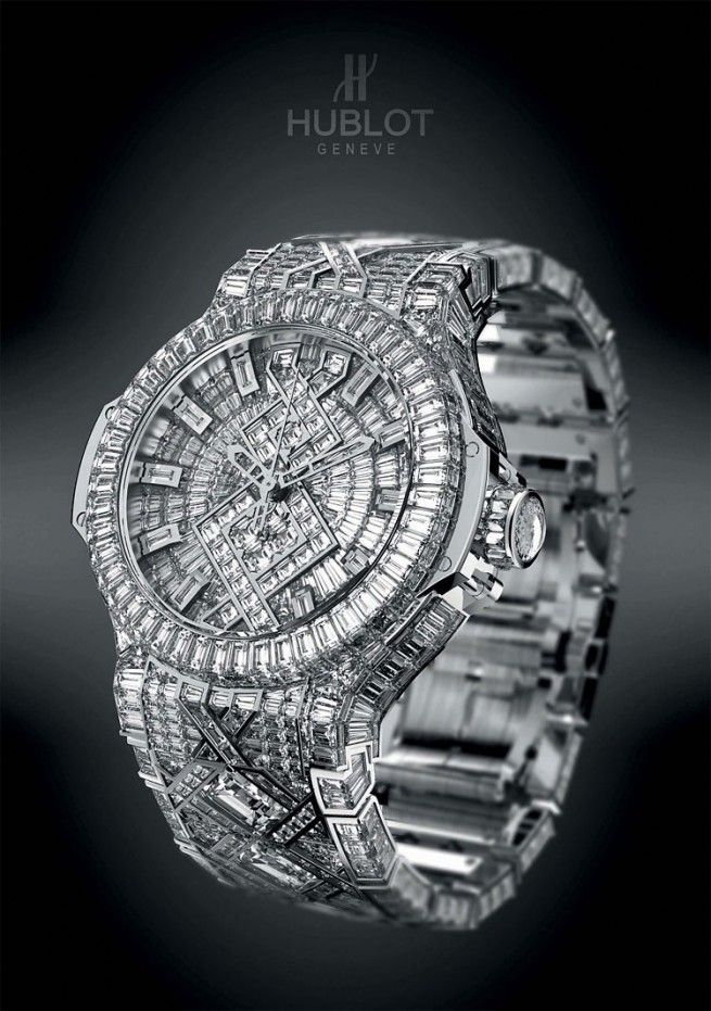 Hublot $5 Million (most expensive watch worldwide) with 1282 diamonds