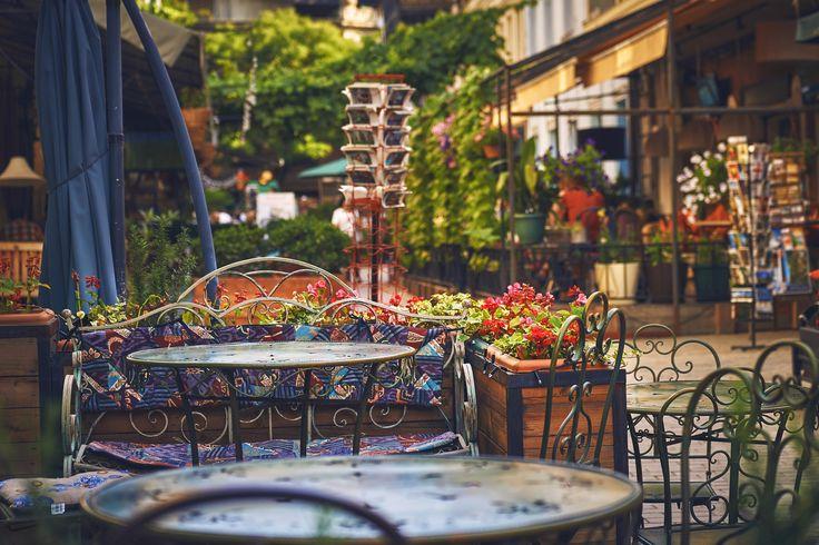 Summer cafe - Tbilisi, Georgia, 2016