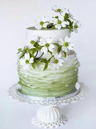 White chocolate fondant cake