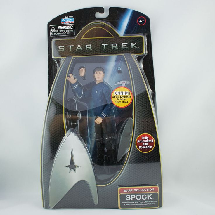 Spock, Includes: utility belt, phaser, communicator & interchangeable Vulcan salute hand