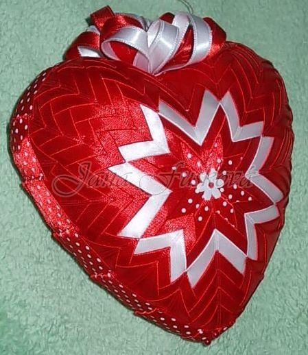 červeno-biele srdce 15 cm