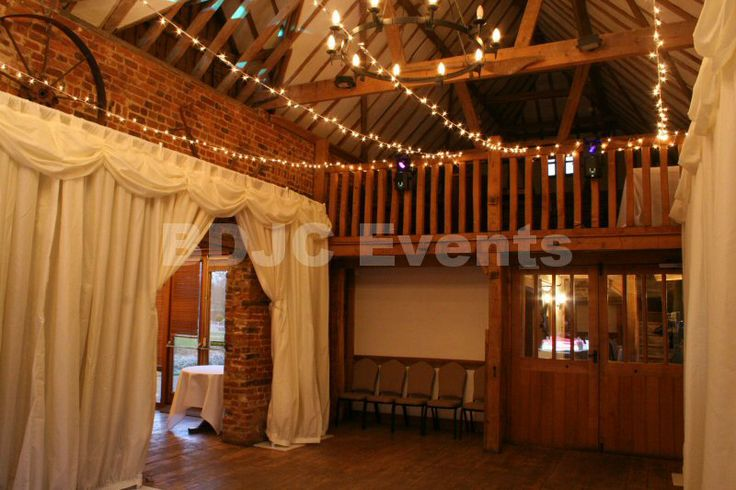 Fairy lights create a magical look and feel to any venue