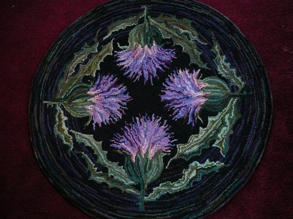"""""""Thistle"""" rug by Jennifer Martinsons, amazing design n colors!"""