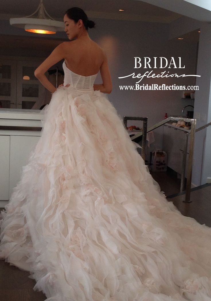 17 best images about ines di santo spring 2016 on for Fitted ball gown wedding dress