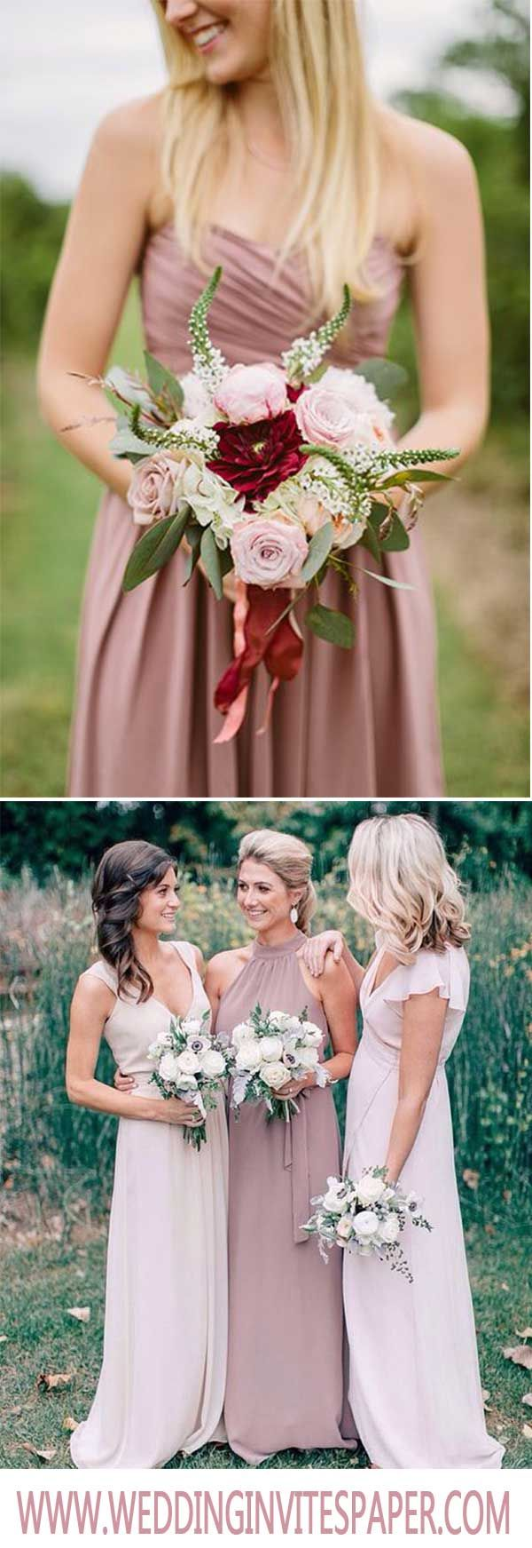 25 cute bridesmaid dresses marsala ideas on pinterest berry wedding pantone neutral color marsala in 2018 wedding trendy wedding invites paper mauve wedding ombrellifo Image collections