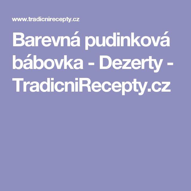 Barevná pudinková bábovka - Dezerty - TradicniRecepty.cz