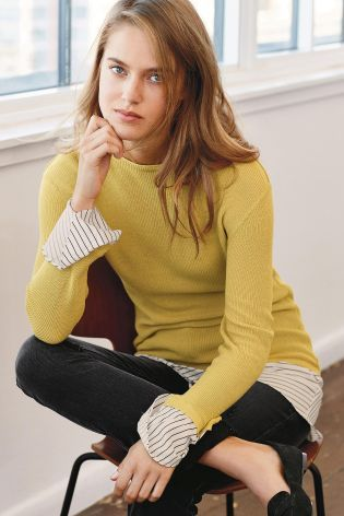 Buy Ochre Ruffle Layer Sweater from the Next UK online shop