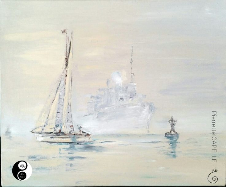 Pierrette CAPELLE en Expo AA'Zart'S  #marine #peinture