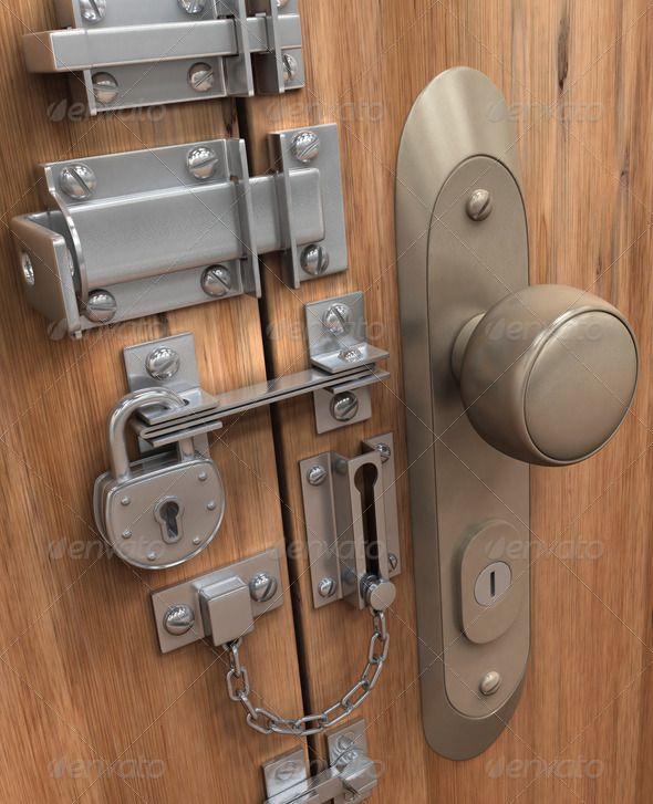 Many lock and system of security in only one door. http://photodune.net/item/super-security/7851309
