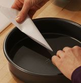 VIDEO & INSTRUCTION How To: Cut Parchment Circles Easily and Prepare Cake Pans    THIS REALLY IS THE WAY TO DO IT!!!!