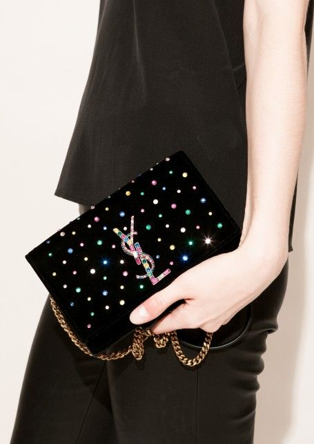 d03df4f772cc Medium kate bag with multicolored crystals by Saint Laurent Paris - Département  Féminin  ysl