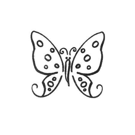 Scrapbooking - Artemio - Tampon bois - Papillon - 2,2 x 2 cm