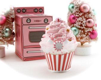 Fake Cupcakes Peppermint Snowflake Collection by 12LegsCuriosities