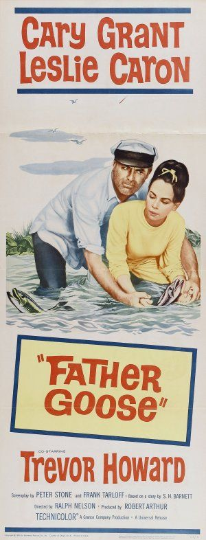 Cary Grant  Leslie Caron in Father Goose (1964) Movie Poster