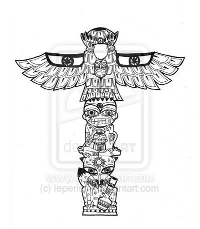 native american totem poles to color in pinterest - Google Search