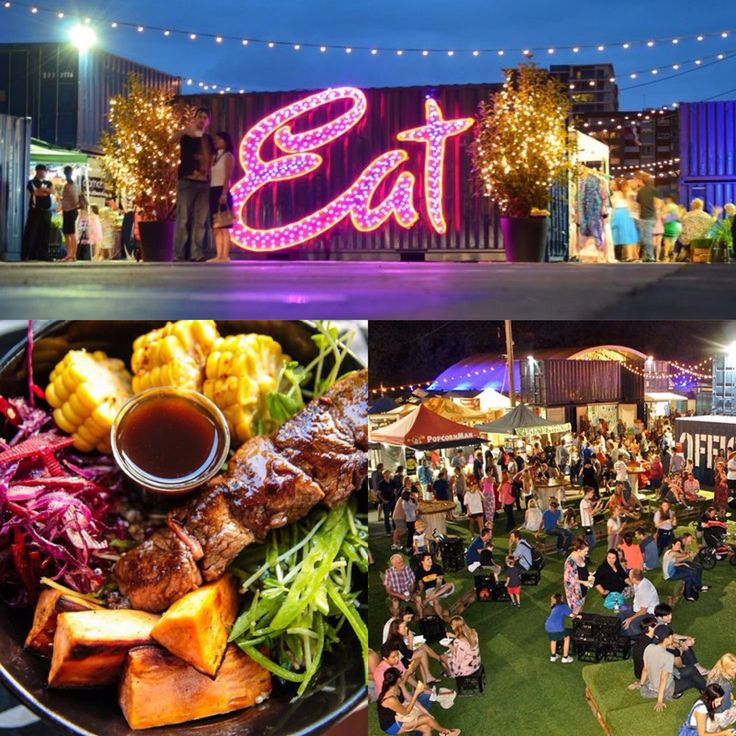 No. 3 on Australia's Must-Do Destinations for 2015 = Brisbane's Eat Street Markets!  Food, food and... did we say food? This market lights up every weekend, time to eat around the world! And stay at a great hotel too ;)