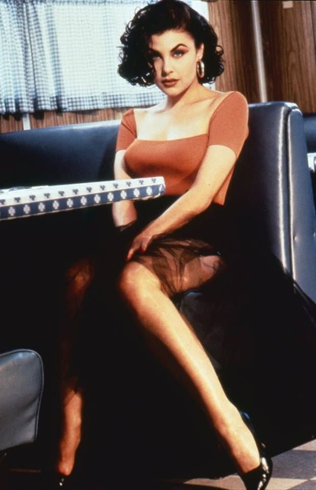 Sherilyn Fenn as femme fatale Audrey Horne in Twin Peaks, 1990                                                                                                                                                                                 More