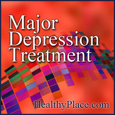Major depression treatment includes medications, therapy and in severe depression, electroconvulsive therapy. Learn about the treatment of clinical depression.   www.HealthyPlace.com
