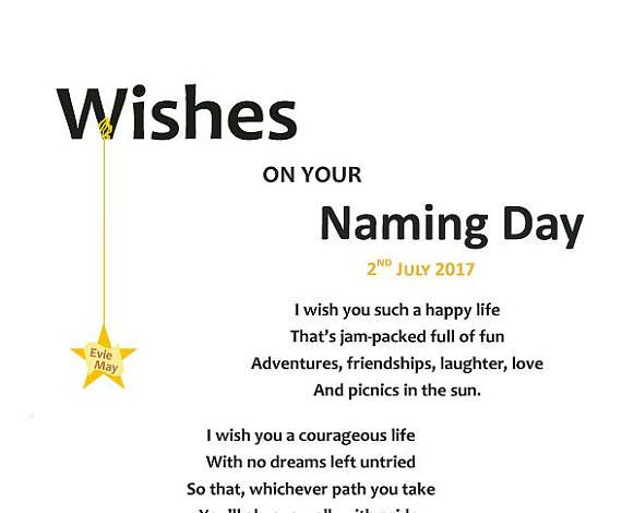 Wishes on your naming day illustrated poem for naming ceremony new wishes on your naming day illustrated poem for naming ceremony new baby gift baby boy gift present for baby girl ideal for new parents angel naming m4hsunfo