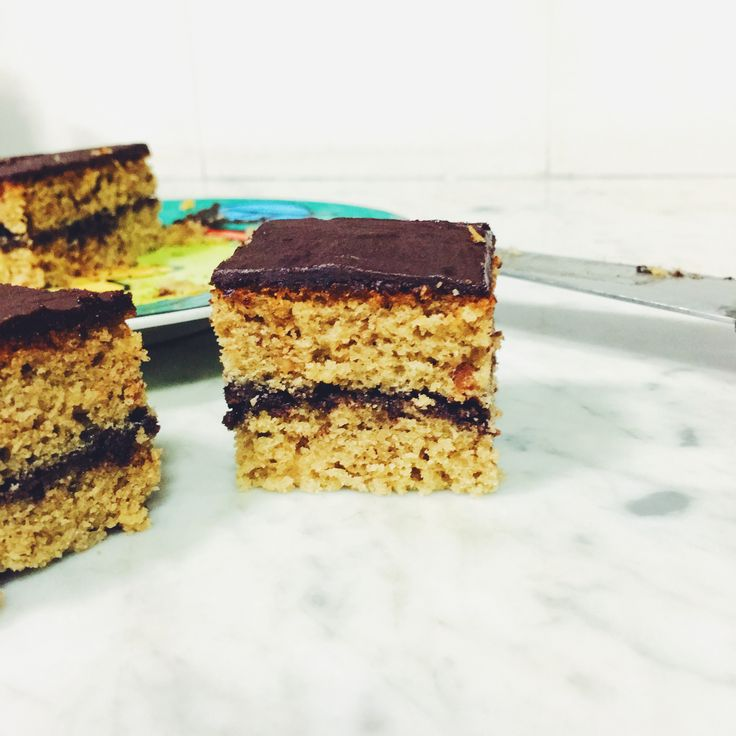 Peanut Butter Cake with Chocolate frosting  #food#homemade#baking#peanutbutter#iphonegraphy#cake#dessert#sweet#vscocam