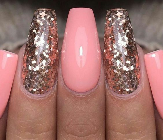 Tapered Square Nails. Peach Nails. Gold Nails. Gel Nails. Acrylic Nails. Are you looking for peach acrylic nails design? See our collection full of peach acrylic nails designs and get inspired!