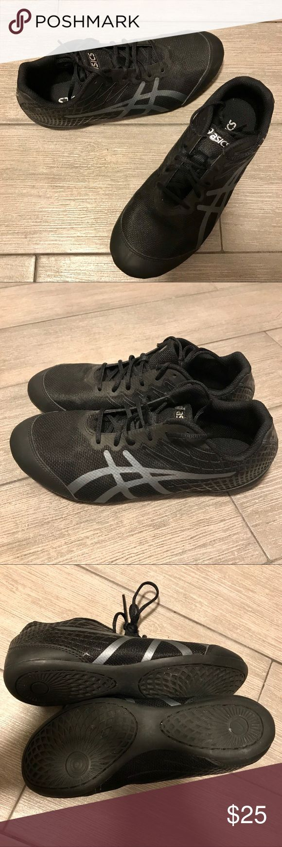 ASICS Rhythmic 3 Dance Sneakers- Size 6.5 Black ASICS sneakers. Lightweight, basic, easy to move in. Worn only twice, very good condition. Shoes Athletic Shoes